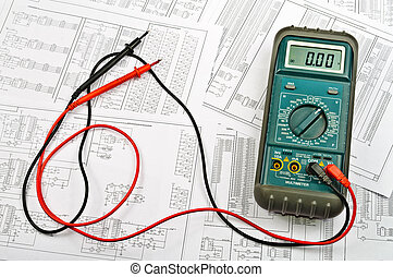 Several schemes of electric and electrical tester