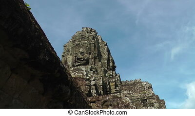 Stone Face in Bayon Temple, Angkor