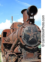 Antique locomotive at the narrow-gauge railway, Museum of...
