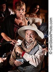 Elderly Gambler and Girlfriend Cheating - Girlfriend passes...