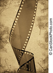 Old camera film strip - Overexposed old camera film strip...