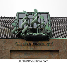 The ship sculpture. The Hague, Netherlands - The ship...