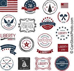 americano, revolução, projetos