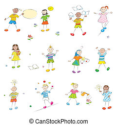 happy learning kids - happy learning school kids doodles...