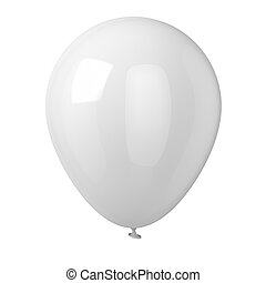White Balloon - Balloon isolated on white background