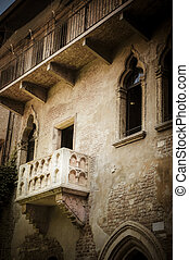 Juliets balcony, Verona, Italy - Balcony where Romeo wooed...
