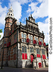 old town hall,Den Haag, Holland - old town hall in Den Haag,...