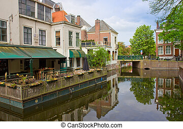 street of Den Haag, Holland - street in old town of Den...