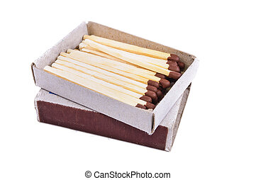 Box of matches Photos isolated on white background