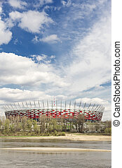 Sights of Poland. National Stadium in Warsaw.