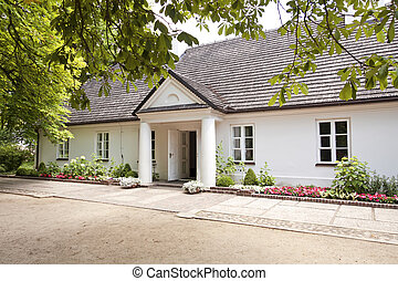 Museum of Frederick Chopin. - Manor-house near Warsaw. Place...