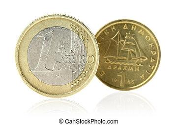 dracma, ou,  Euro
