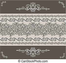 ornaments border and design element