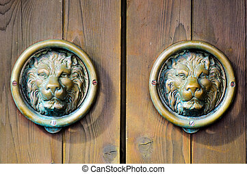 Chinese Lions Door Handel Decoration - Chinese lions Knobs...