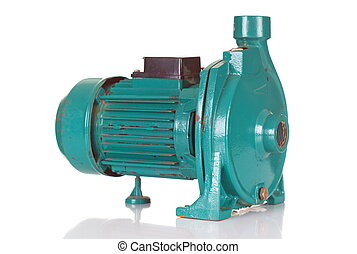 Old Impeller Water Pump on White Background