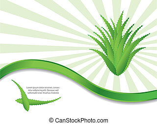 special green background with aloe vera design