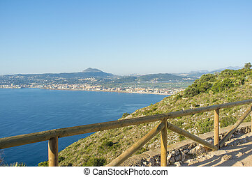 Xabia - Javea as seen from San Antonio Cape, Costa Blanca