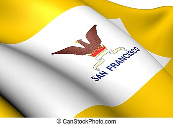 Flag of San Francisco, USA.