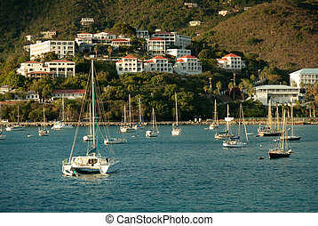 Yacht club in StThomas, US Virgin Islands