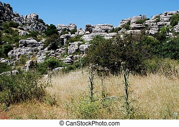 El Torcal National park, Spain. - Karst landscape, El Torcal...