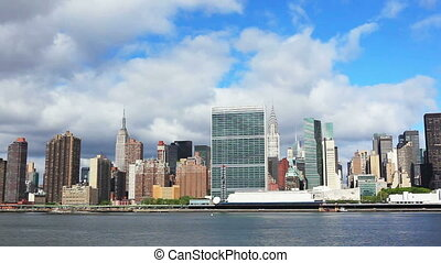 Manhattan panorama - New York City Manhattan midtown skyline...