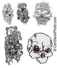 Skulls Tattoo designs - by Angela