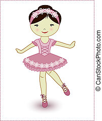 Beautiful lovely girl ballerina - The beautiful girl the...