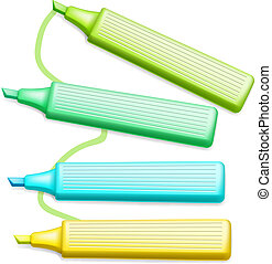 Colored Highlighter Pens Set