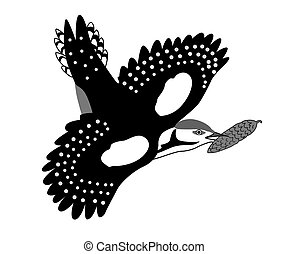 jay drawing on white background,