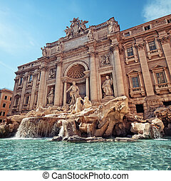 Trevi Fountain, Rome - Italy - Trevi Fountain Fontana di...