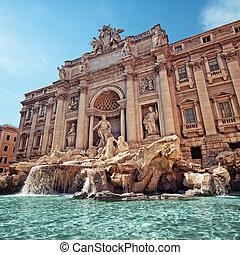 Trevi Fountain, Rome - Italy - Trevi Fountain (Fontana di...