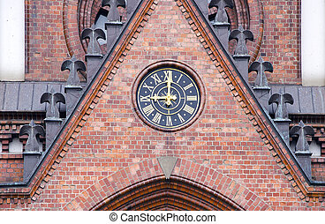 historical church clock on the wall