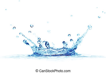 splash water isolated on a white background...