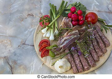 American Balkan BBQ before grilling