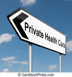 Private Healthcare concept. - Illustration depicting a road...