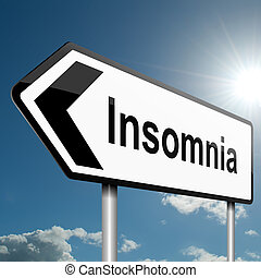 Insomnia concept - Illustration depicting a road traffic...