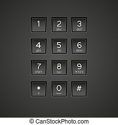 vector phone keypad background Eps10