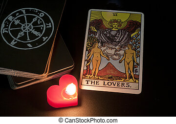tarot card, the lover, refers to love or luck
