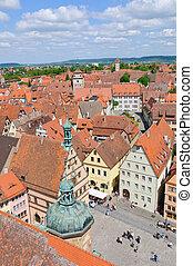 Rothenburg ob der Tauber, Germany - Market square...