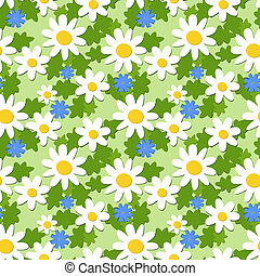 Seamless ornament with daisies and knapweeds, eps 8