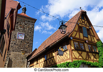 Rothenburg ob der Tauber, Germany - Rothenburg is located...