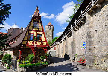 Rothenburg ob der Tauber, Germany - The Old Smithy and...