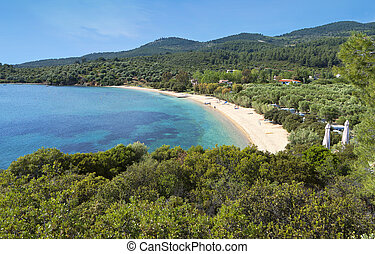 Beach at Halkidiki in Greece - Beautiful beach of porto...