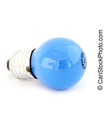light blue on white background