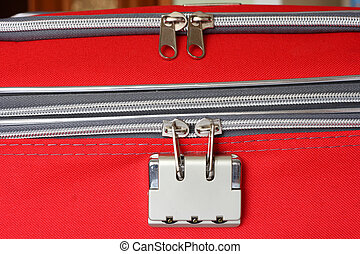 Zipper and lock in your travel bag