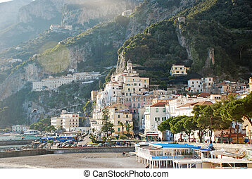 Amalfi coastview - foreshortening view of the beautiful...