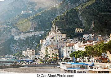 Amalfi coastview - foreshortening view of the beautiful...