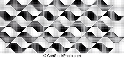 Vector pattern with similar shape o