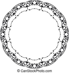 Rounded frame in the style of Art Nouveau. Vector...