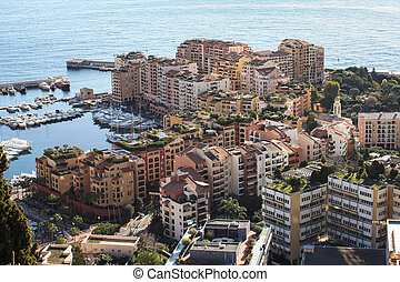 Fontvieille in Monte_Carlo, Monaco - The city district of...